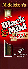 BLACK and MILD APPLE CIGARS 10 - 5PKS