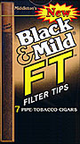 BLACK and MILD FT FILTER TIP CIGARS 10 - 7PKS