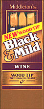BLACK and MILD WINE WOOD TIP CIGARS 10 - 5PKS