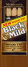 BLACK and MILD WOOD TIP CIGARS 10 - 5PKS
