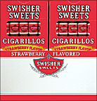 SWISHER SWEETS CIGARILLOS STRAWBERRY 20 - 5PKS