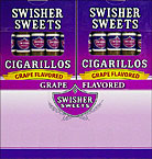 SWISHER SWEETS CIGARILLOS GRAPE 20 - 5PKS