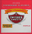 SWISHER SWEETS CIGARILLOS STRAWBERRY 60CT BOX