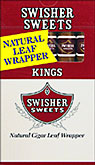 SWISHER SWEETS KINGS (NATURAL LEAF) 10 - 5 PKS
