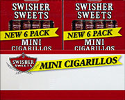 SWISHER SWEETS MINI CIGARILLOS - 20 - 6 PKS