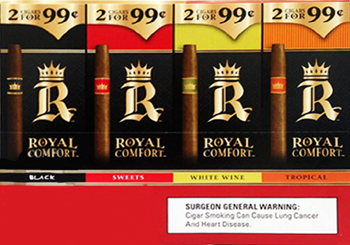 ROYAL COMFORT CIGARILLOS 2  -  $0.99 VARIETY PACK