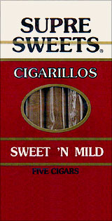 SUPRE SWEETS CIGARILLOS - SWEET N MILD - 5CT.