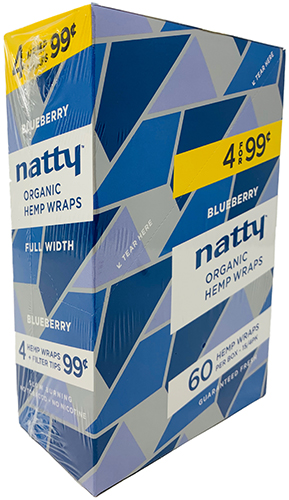 Natty Organic Hemp Wraps Blueberry 15 4pks