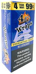 4 Kings Wraps Blueberry 120ct Box