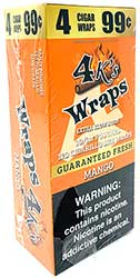 4 Kings Wraps Mango 120ct Box