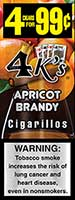 4 Kings Cigarillos Apricot Brandy 15ct