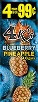 4 Kings Cigarillos Blueberry Pineapple 15ct