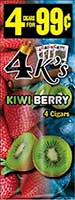 4 Kings Cigarillos Kiwi Berry 15ct