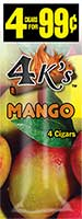 4 Kings Cigarillos Mango 15ct