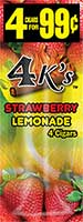 4 Kings Cigarillos Strawberry Lemonade 15ct