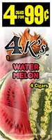 4 Kings Cigarillos Watermelon 15ct