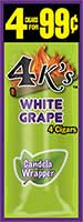 4 Kings Cigarillos White Grape 15ct