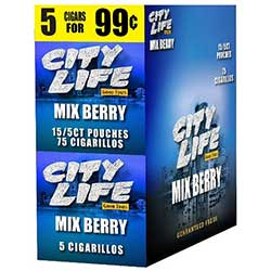 City Life Cigarillos Mixed Berry 15ct