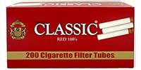 Classic Cigarette Tubes Red 100 200ct
