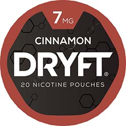 DRYFT Nicotine Pouches Cinnamon 7mg 5ct