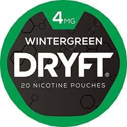 DRYFT Nicotine Pouches Wintergreen 4mg 5ct