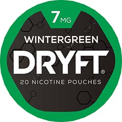 DRYFT Nicotine Pouches Wintergreen 7mg 5ct