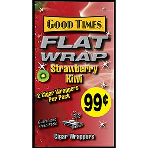Good Times Flat Wrap Strawberry Kiwi 25ct Box