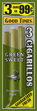 Good Times Cigarillos Green Sweet 15ct