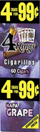 4 Kings Cigarillos Napa Grape 15ct Box