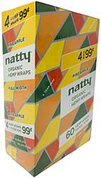 Natty Organic Hemp Wraps Pineapple 15 4pks