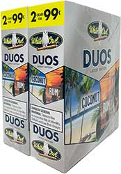 White Owl Cigarillos Duos Coconut and Rum 30ct