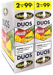 White Owl Cigarillos Duos Mango and Pineapple 30ct