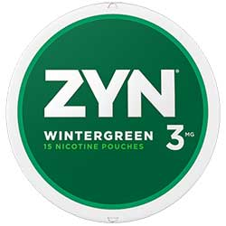 ZYN Nicotine Pouches Wintergreen 3mg 5ct
