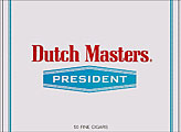 DUTCH MASTERS PRESIDENT 50 COUNT BOX