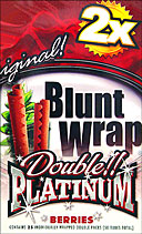 Blunt Wrap Double Platinum Berries 25 Packs of 2