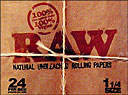 Raw1 1 4 Cigarette Paper 24ct Box