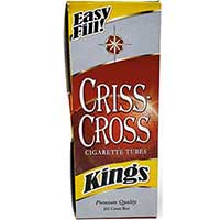 Criss Cross Red Cigarette Tubes 200ct