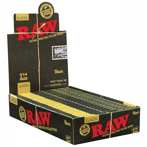 RAW Black 1.25 Rolling Papers 24ct Box