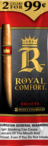 ROYAL COMFORT CIGARILLOS SWEETS 2  $0.99 15CT BOX