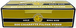Smoker Friendly Cigarette Tubes Gold King Size 200ct