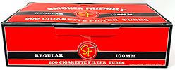 Smoker Friendly Cigarette Tubes Red 100 200ct