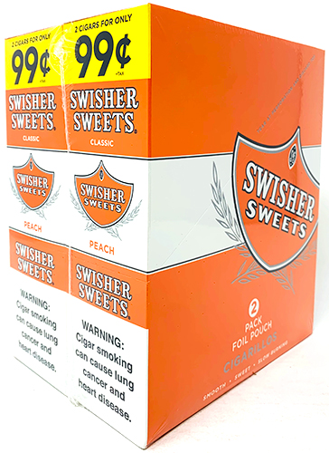 Swisher Sweets Cigarillos Peach