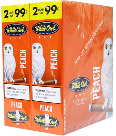 White Owl Cigarillos Peach 30ct
