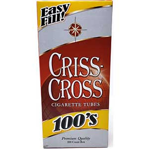 Criss Cross Red 100 Cigarette Tubes 200ct