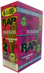 Rap Cigarillos Strawberry Kiwi 4 $0.99 15ct Box